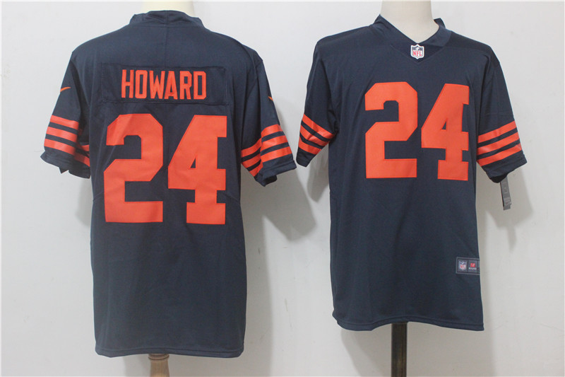 Men's Nike Chicago Bears #24 Jordan Howard Navy Blue Alternate Stitched NFL Vapor Untouchable Limited Jersey