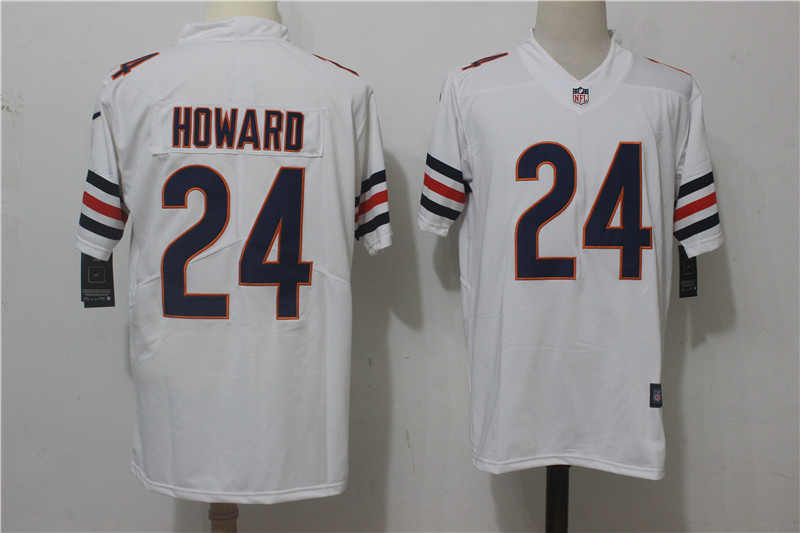 Men's Nike Chicago Bears #24 Jordan Howard White Stitched NFL Vapor Untouchable Limited Jersey