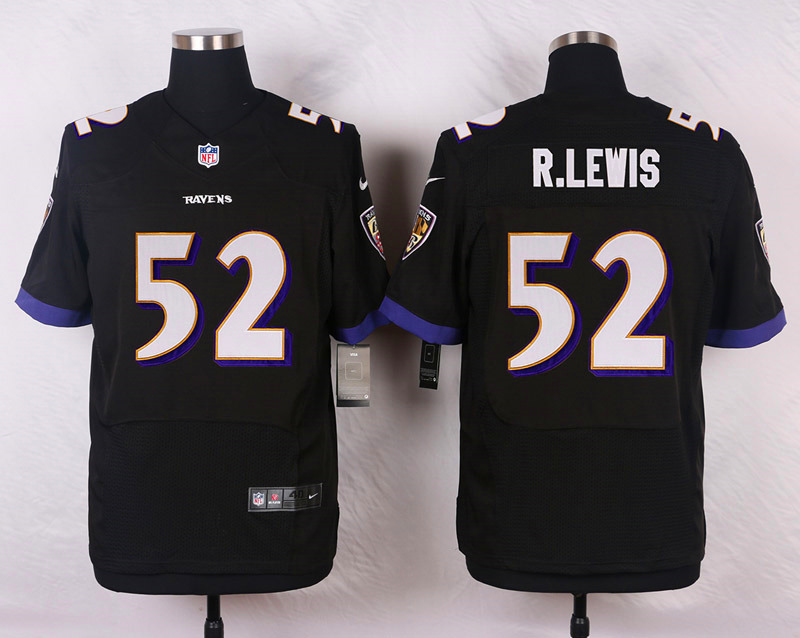Nike Ravens #52 Ray Lewis Black Men's Stitched NFL New Elite Jersey