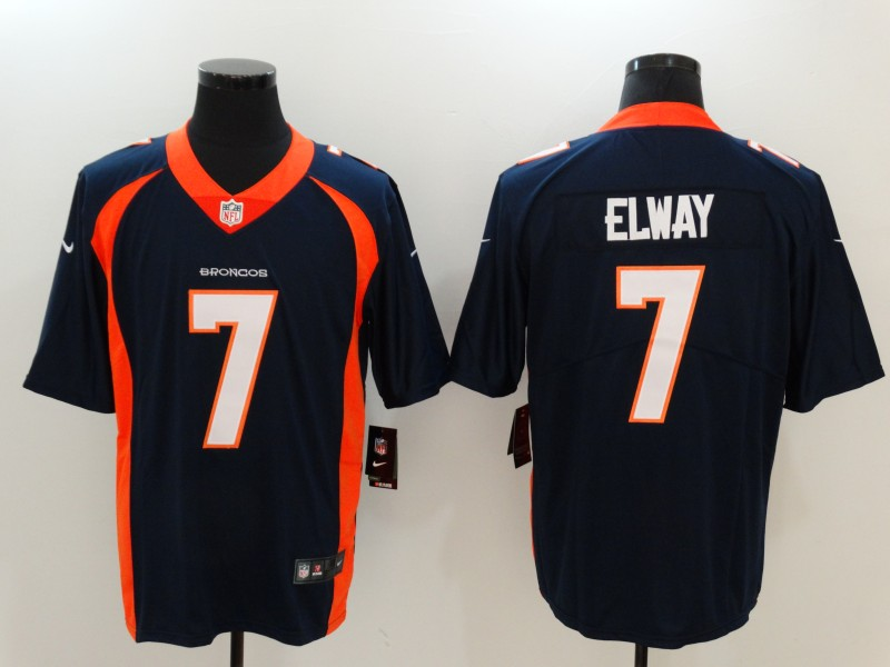 Men's Denver Broncos #7 John Elway Navy Vapor Untouchable Player Limited Jersey