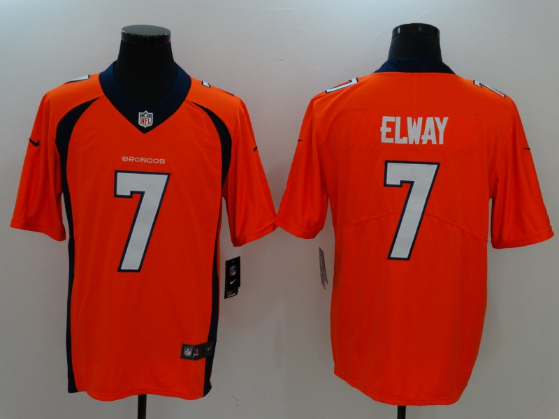 Men's Denver Broncos #7 John Elway Orange Vapor Untouchable Player Limited Jersey