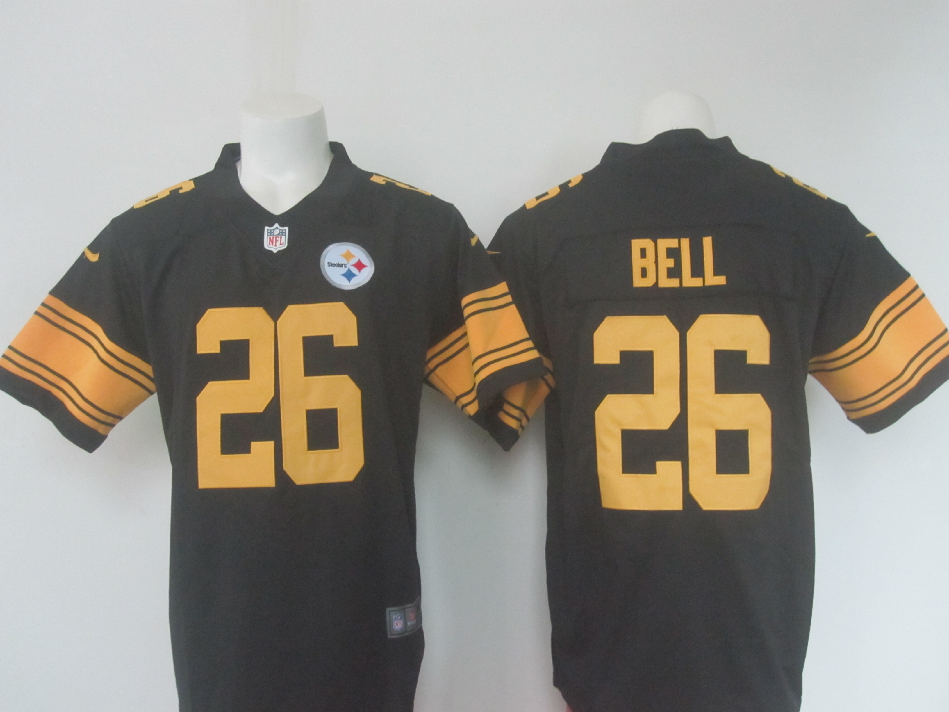 Men's Nike Steelers # 26 Le'Veon Bell Black Limited Rush Stitched NFL Jersey