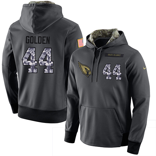 NFL Men's Nike Arizona Cardinals #44 Markus Golden Stitched Black Anthracite Salute to Service Player Performance Hoodie