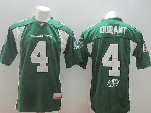 Roughriders #4 Darian Durant Green Stitched CFL Jersey