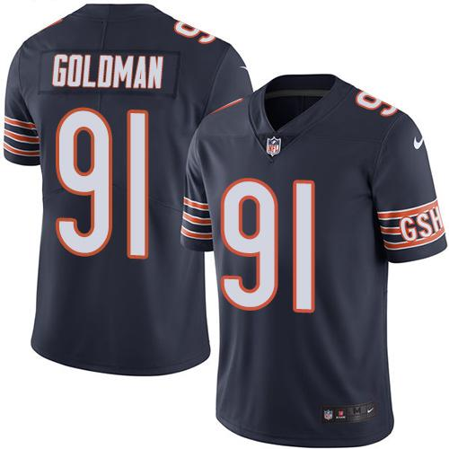 Nike Bears #91 Eddie Goldman Navy Blue Men's Stitched NFL Limited Rush Jersey