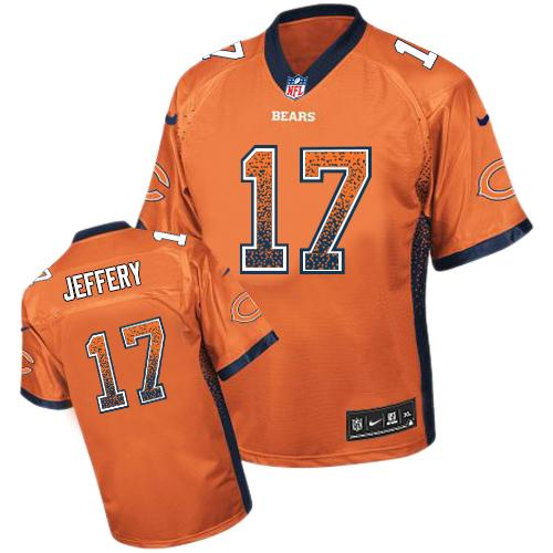 Nike Bears #17 Alshon Jeffery Orange Alternate Men's Stitched NFL Elite Drift Fashion Jersey