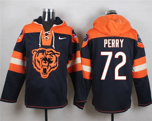 Nike Bears #72 William Perry Navy Blue Player Pullover NFL Hoodie