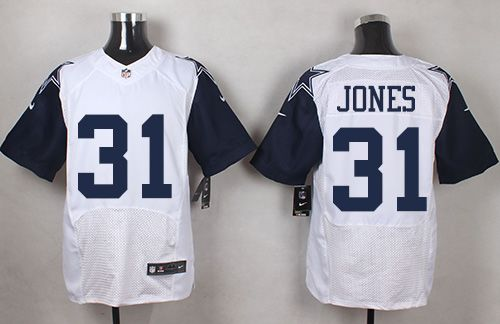 Nike Cowboys #31 Byron Jones White Men's Stitched NFL Elite Rush Jersey