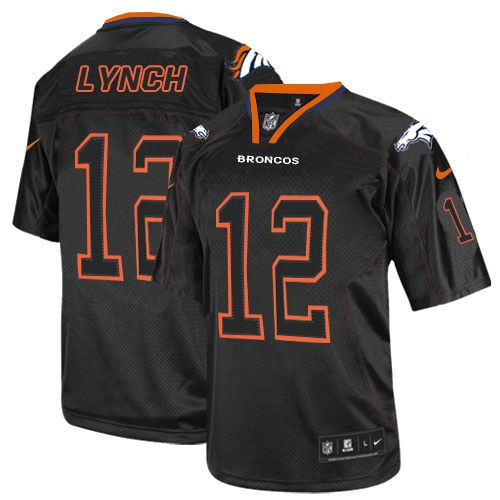 Nike Broncos #12 Paxton Lynch Lights Out Black Men's Stitched NFL Elite Jersey