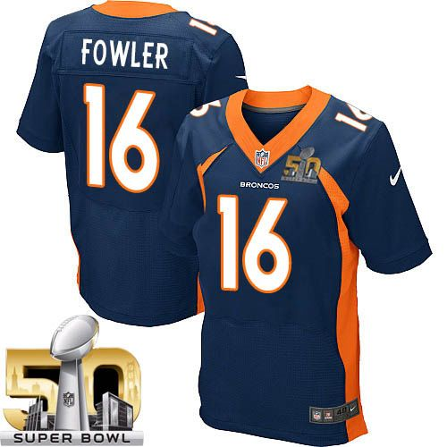 Nike Broncos #16 Bennie Fowler Navy Blue Alternate Super Bowl 50 Men's Stitched NFL New Elite Jersey