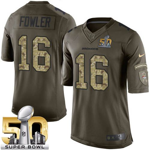 Nike Broncos #16 Bennie Fowler Green Super Bowl 50 Men's Stitched NFL Limited Salute To Service Jersey