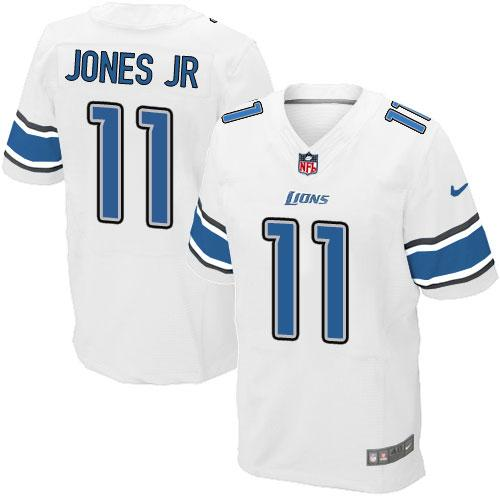 Nike Lions #11 Marvin Jones Jr White Men's Stitched NFL Elite Jersey