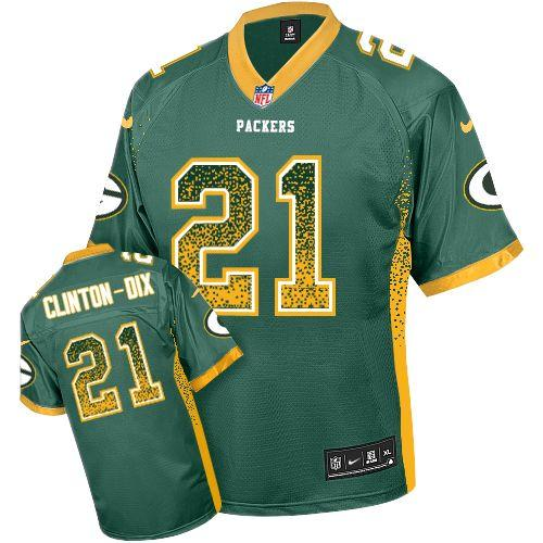 Nike Packers #21 Ha Ha Clinton-Dix Green Team Color Men's Stitched NFL Elite Drift Fashion Jersey