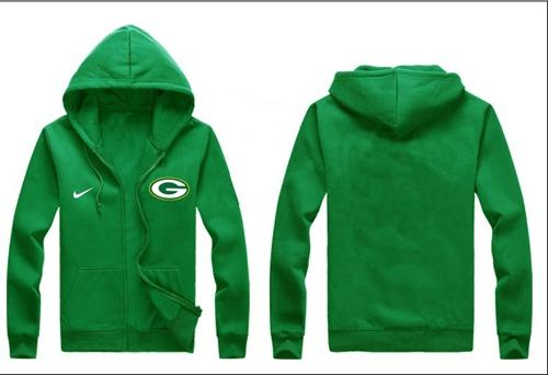 Nike Green Bay Packers Authentic Logo Hoodie Green