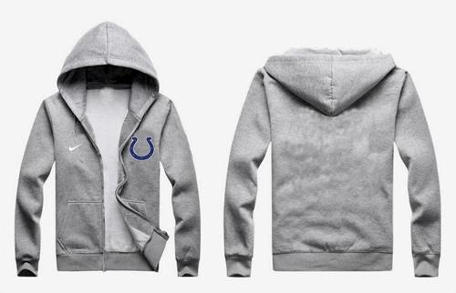 Nike Indianapolis Colts Authentic Logo Hoodie Grey