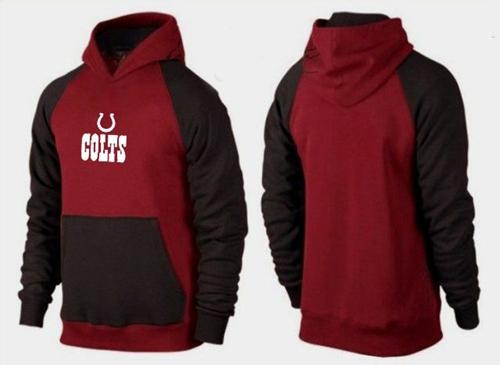 Indianapolis Colts Authentic Logo Pullover Hoodie Burgundy Red & Black