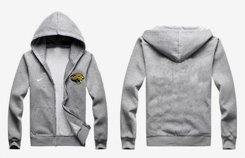 Nike Jacksonville Jaguars Authentic Logo Hoodie Grey