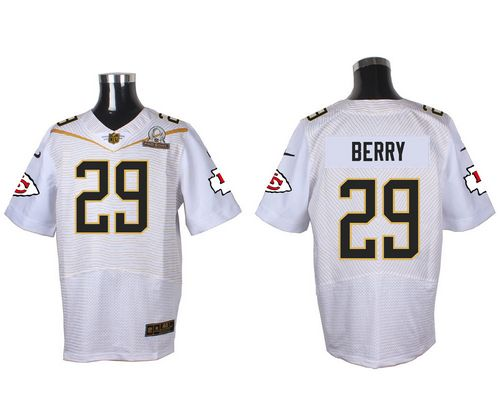 Nike Chiefs #29 Eric Berry White 2016 Pro Bowl Men's Stitched NFL Elite Jersey