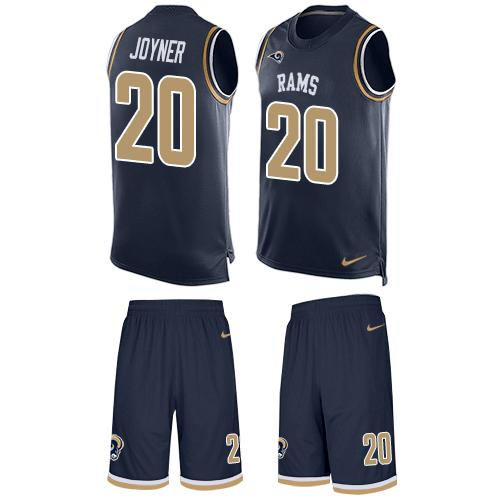 Nike Rams #20 Lamarcus Joyner Navy Blue Team Color Men's Stitched NFL Limited Tank Top Suit Jersey