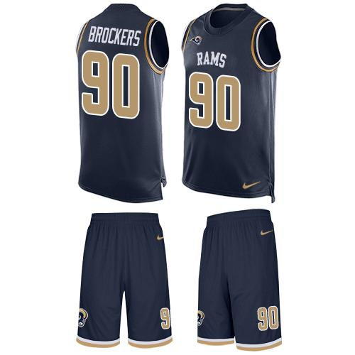 Nike Rams #90 Michael Brockers Navy Blue Team Color Men's Stitched NFL Limited Tank Top Suit Jersey