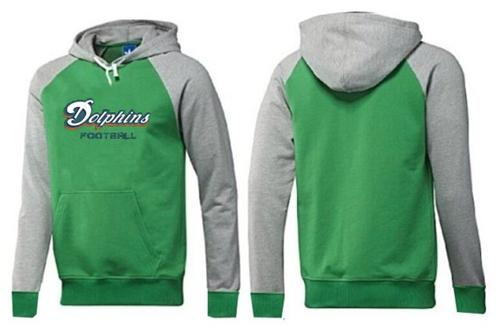Miami Dolphins English Version Pullover Hoodie Green & Grey