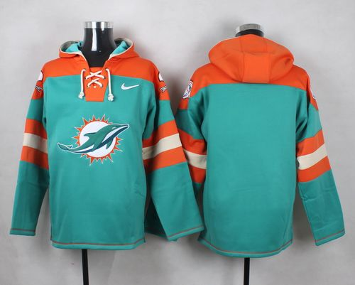 Nike Dolphins Blank Aqua Green Player Pullover NFL Hoodie
