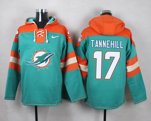 Nike Dolphins #17 Ryan Tannehill Aqua Green Player Pullover NFL Hoodie