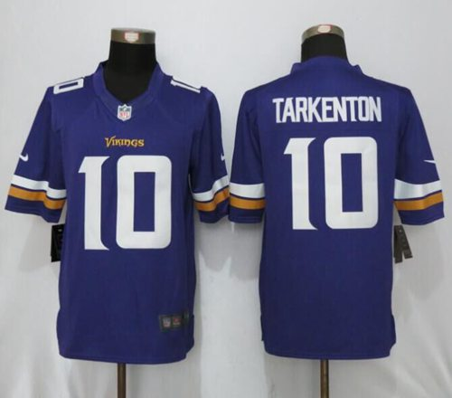 Nike Vikings #10 Fran Tarkenton Purple Team Color Men's Stitched NFL Limited Jersey