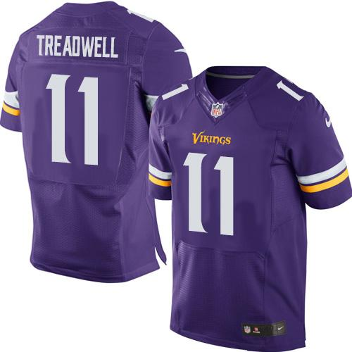 Nike Vikings #11 Laquon Treadwell Purple Team Color Men's Stitched NFL Elite Jersey