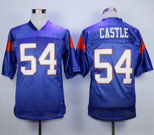 Blue Mountain State #54 Thad Castle Blue Stitched Football Jersey