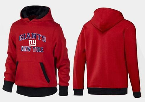 New York Giants Heart & Soul Pullover Hoodie Red & Black