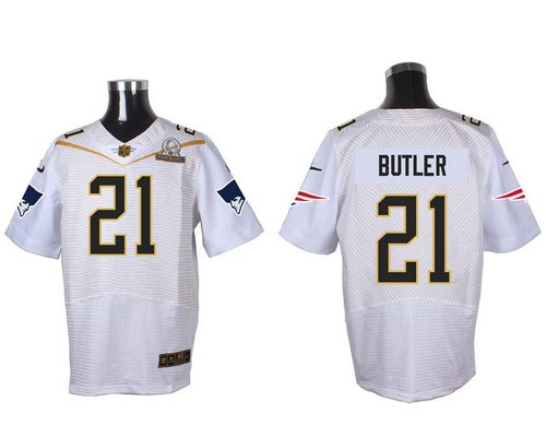Nike Patriots #21 Malcolm Butler White 2016 Pro Bowl Men's Stitched NFL Elite Jersey