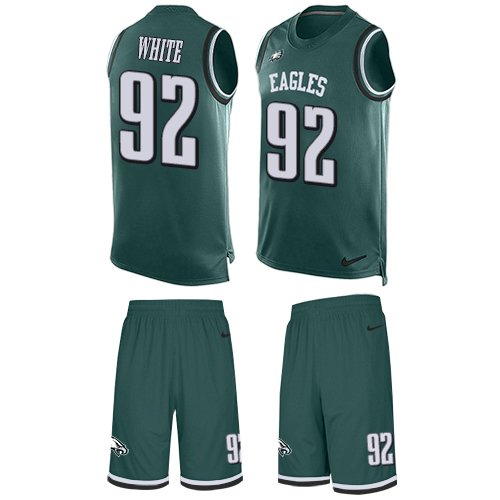 Nike Eagles #92 Reggie White Midnight Green Team Color Men's Stitched NFL Limited Tank Top Suit Jersey