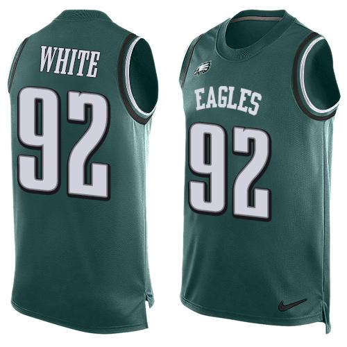 Nike Eagles #92 Reggie White Midnight Green Team Color Men's Stitched NFL Limited Tank Top Jersey