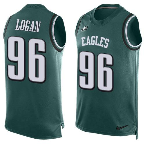Nike Eagles #96 Bennie Logan Midnight Green Team Color Men's Stitched NFL Limited Tank Top Jersey