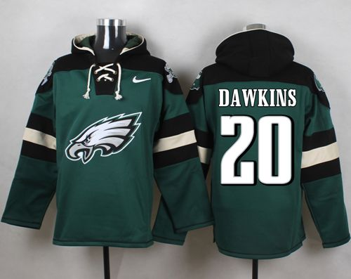 Nike Eagles #20 Brian Dawkins Midnight Green Player Pullover NFL Hoodie