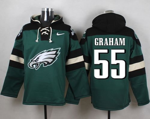 Nike Eagles #55 Brandon Graham Midnight Green Player Pullover NFL Hoodie