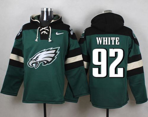 Nike Eagles #92 Reggie White Midnight Green Player Pullover NFL Hoodie