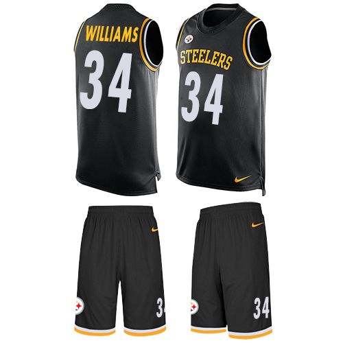 Nike Steelers #34 DeAngelo Williams Black Team Color Men's Stitched NFL Limited Tank Top Suit Jersey