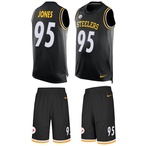 Nike Steelers #95 Jarvis Jones Black Team Color Men's Stitched NFL Limited Tank Top Suit Jersey