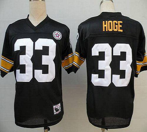 Mitchell And Ness Steelers #33 Merril Hoge Black Stitched Throwback NFL Jersey
