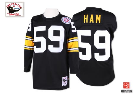 Mitchell And Ness Steelers #59 Jack Ham Black Stitched Jersey