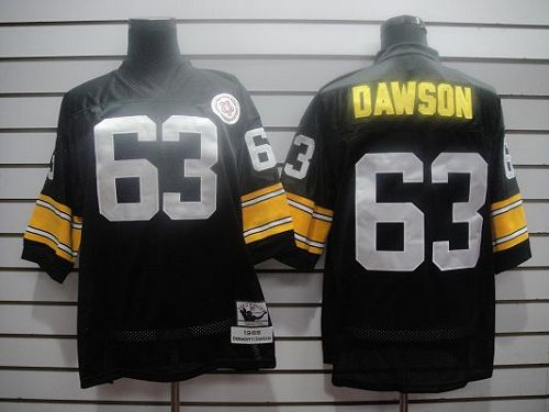 Mitchell And Ness Steelers #63 Dawson Black Stitched Throwback NFL Jersey