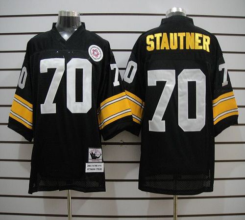 Mitchell And Ness Steelers #70 Ernie Stautner Black Stitched NFL Jersey