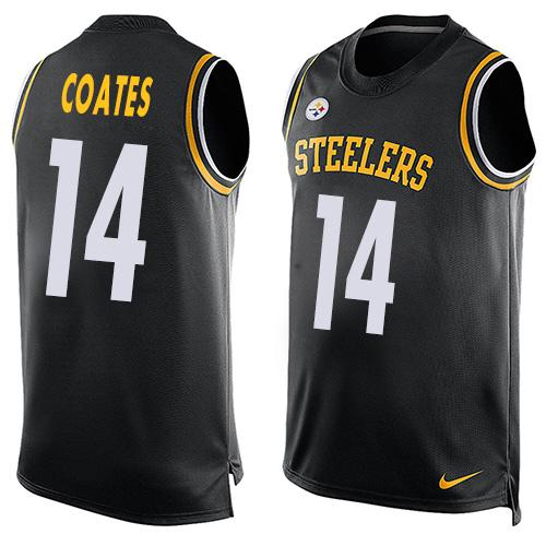 Nike Steelers #14 Sammie Coates Black Team Color Men's Stitched NFL Limited Tank Top Jersey