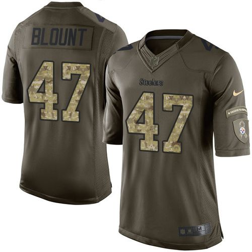 Nike Steelers #47 Mel Blount Green Men's Stitched NFL Limited Salute to Service Jersey
