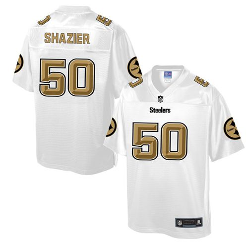Nike Steelers #50 Ryan Shazier White Men's NFL Pro Line Fashion Game Jersey