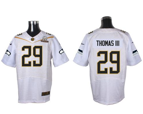 Nike Seahawks #29 Earl Thomas III White 2016 Pro Bowl Men's Stitched NFL Elite Jersey