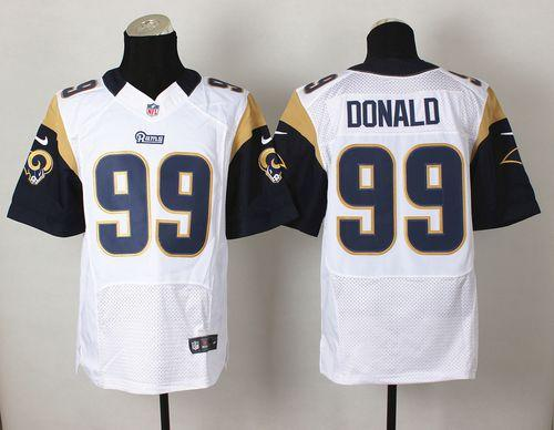 Nike Rams #99 Aaron Donald White Men's Stitched NFL Elite Jersey