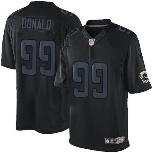 Nike Rams #99 Aaron Donald Black Men's Stitched NFL Impact Limited Jersey